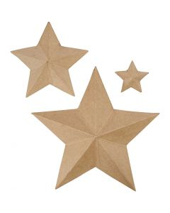 Stjärnor, H: 11+19,5+31,5 cm, 3 st./ 1 förp.