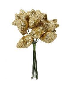 Stjärnor, Dia. 25 mm, guld, 12 st./ 1 förp.