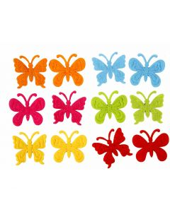 Filtfjärilar, stl. 3 cm, tjocklek 1,5 mm, 160 st./ 1 förp.