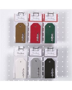 Manillamärken, julgran, stl. 5x10 cm, 300 g, 6x10 förp./ 1 låda