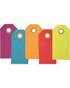 Manillamärken, stl. 4x8 cm, 250 g, mixade färger, 20 st./ 1 förp.