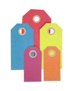 Manillamärken, stl. 3x6+4x8+5x10 cm, 220 g, mixade färger, 500 st./ 1 förp.