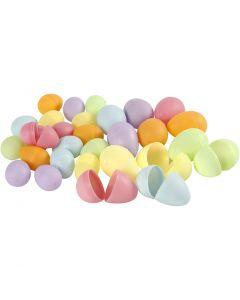 Ägg, H: 4,5+6 cm, Dia. 3+4  cm, pastellfärger, 720 st./ 1 förp.