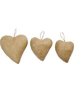 Hjärtan, H: 6+8+10 cm, 6 st./ 1 förp.