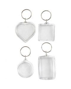 Nyckelringar berlocker, stl. 40-50 mm, 4 st./ 1 förp.