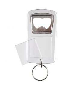 Nyckelringar med kapsylöppnare, stl. 8x4,5x0,5 cm, 5 st./ 1 förp.