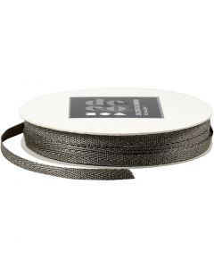 Dekorationsband, B: 5 mm, silver, 20 m/ 1 rl.