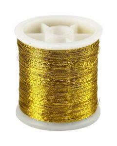 Sytråd, tjocklek 0,15 mm, guld, 100 m/ 1 rl.