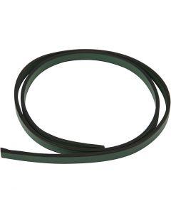 Imiterat läderband, B: 10 mm, tjocklek 3 mm, grön, 1 m/ 1 förp.