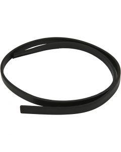 Imiterat läderband, B: 10 mm, tjocklek 3 mm, svart, 1 m/ 1 förp.