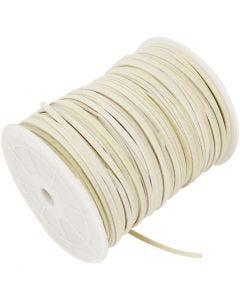 Imiterat mockasnöre, tjocklek 3 mm, beige, 100 m/ 1 rl.