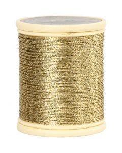 DMC tråd, tjocklek 0,36 mm, guld, 40 m/ 1 rl.