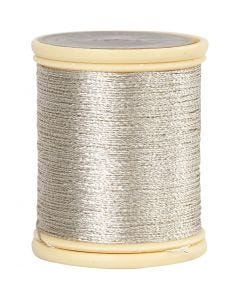 DMC tråd, tjocklek 0,36 mm, silver, 40 m/ 1 rl.