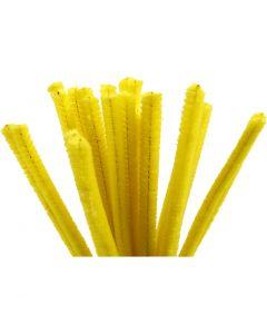 Piprensare, L: 30 cm, tjocklek 9 mm, gul, 25 st./ 1 förp.