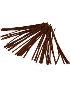 Piprensare, L: 30 cm, tjocklek 6 mm, brun, 50 st./ 1 förp.