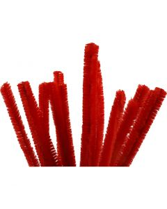 Piprensare, L: 30 cm, tjocklek 15 mm, röd, 15 st./ 1 förp.