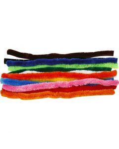 Piprensare, L: 45 cm, tjocklek 25 mm, mixade färger, 60 mix./ 1 förp.
