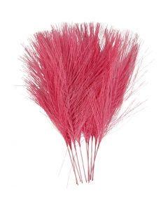 Konstgjorda fjädrar, L: 15 cm, B: 8 cm, rosa, 10 st./ 1 förp.