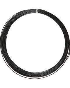 Aluminiumtråd, Rund, tjocklek 1 mm, svart, 16 m/ 1 rl.