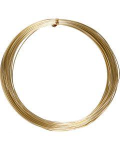 Aluminiumtråd, Rund, tjocklek 1 mm, guld, 16 m/ 1 rl.