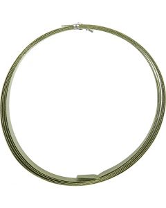 Aluminiumtråd, Platt, B: 15 mm, tjocklek 0,5 mm, grön, 2 m/ 1 rl.
