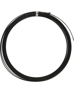Aluminiumtråd, Platt, B: 3,5 mm, tjocklek 0,5 mm, svart, 4,5 m/ 1 rl.