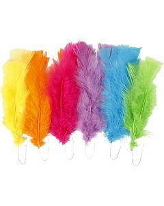 Dun, L: 11-17 cm, mixade färger, 18 bunt/ 1 förp.