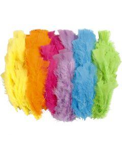Dun, L: 11-17 cm, mixade färger, 144 bunt/ 1 förp.
