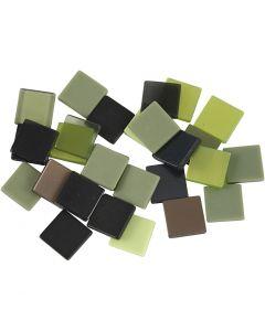 Minimosaik, stl. 10x10 mm, grön, 25 g/ 1 förp.