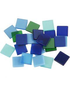 Minimosaik, stl. 10x10 mm, blå/grön harmoni, 25 g/ 1 förp.