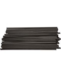 Konstruktionsrör, L: 12,5 cm, Dia. 3 mm, svart, 800 st./ 1 förp.