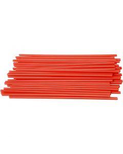 Konstruktionsrör, L: 12,5 cm, Dia. 3 mm, röd, 800 st./ 1 förp.
