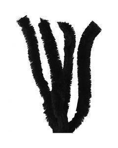 Piprensare, L: 40 cm, tjocklek 30 mm, svart, 4 st./ 1 förp.
