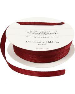 Grosgrainband, B: 6 mm, röd, 15 m/ 1 rl.