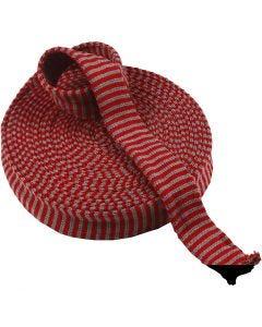 Tubstickat, B: 40 mm, julröd/grå, 10 m/ 1 rl.