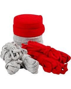 Tubstickat, B: 10-40 mm, Innehållet kan variera , grå, röd, 50 m/ 1 förp.