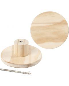 Träknopp, rund, Dia. 11 cm, 1 st.