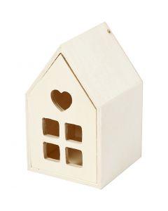 Hus med låda, H: 10,8 cm, B: 6,8 cm, 1 st.
