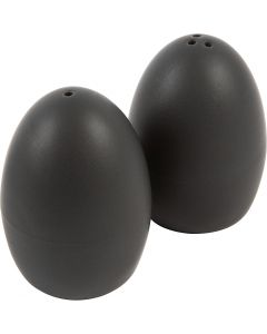 Salt- och pepparset, H: 7 cm, matt, svart, 6 set/ 1 låda
