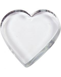 Hjärta, stl. 9x9 cm, tjocklek 15 mm, 1 st.