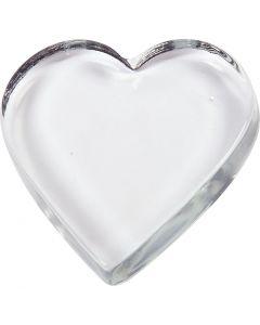 Hjärta, stl. 9x9 cm, tjocklek 15 mm, 10 st./ 1 låda