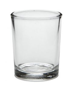 Värmeljusstakar, H: 6,5 cm, Dia. 4,5-5,5 cm, 120 ml, 12 st./ 1 låda