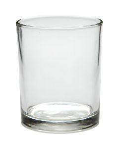 Värmeljusstakar, H: 8,4 cm, Dia. 7 cm, 240 ml, 12 st./ 1 låda
