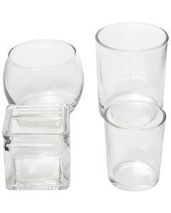 Värmeljushållare, H: 5,3-9,2 cm, Dia. 4,5-7,3 cm, Innehållet kan variera , 72 st./ 1 låda