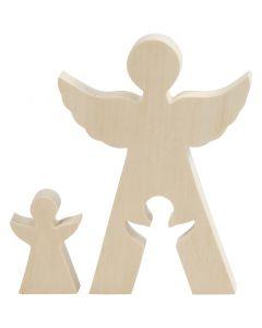 2i1 figur, änglar, H: 7,8+20 cm, B: 4,5+14,3 cm, 1 set