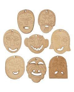 Masker att hänga upp, stl. 5,5-7 cm, tjocklek 4 mm, 24 st./ 1 förp.