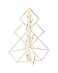 3D Julgran, H: 60 cm, B: 48 cm, 1 st.