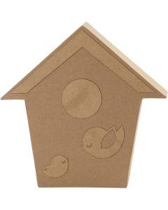 Fågelhus, H: 18 cm, djup 2,5 cm, 1 st.