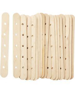 Konstruktionspinnar, L: 15 cm, B: 1,8 cm, Hålstl. 4 mm, 20 st./ 1 förp.