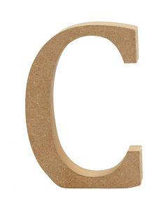 Bokstav, C, H: 8 cm, tjocklek 1,5 cm, 1 st.